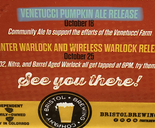Local Brewer Saves Venetucci Pumpkins with Help from PPCC and Partners